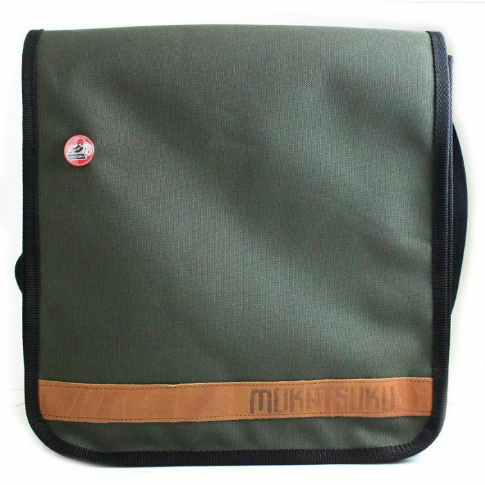 MUKATSUKU - Mukatsuku 12 Inch Vinyl Record Messenger Shoulder Bag 25 (olive green bag holds up to 25 x 12'' records) *Juno Exclusive*