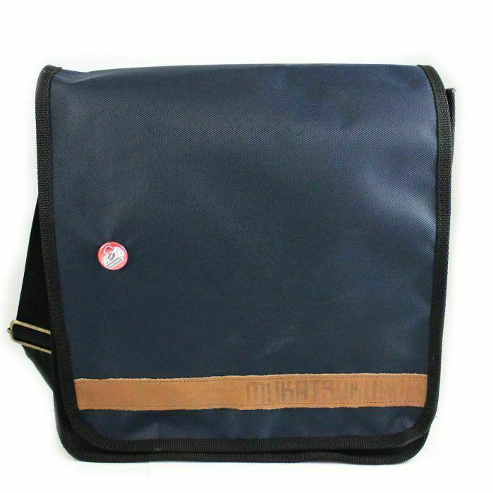 MUKATSUKU - Mukatsuku 12 Inch Vinyl Record Messenger Shoulder Bag 25 (navy blue bag holds 25 x 12'' records) *Juno Exclusive*