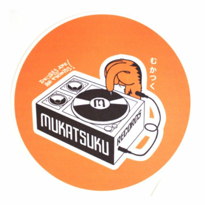 MUKATSUKU - Mukatsuku Records Are Our Friends Bold Orange 12'' Slipmat (single, bold orange) *Juno Exclusive*