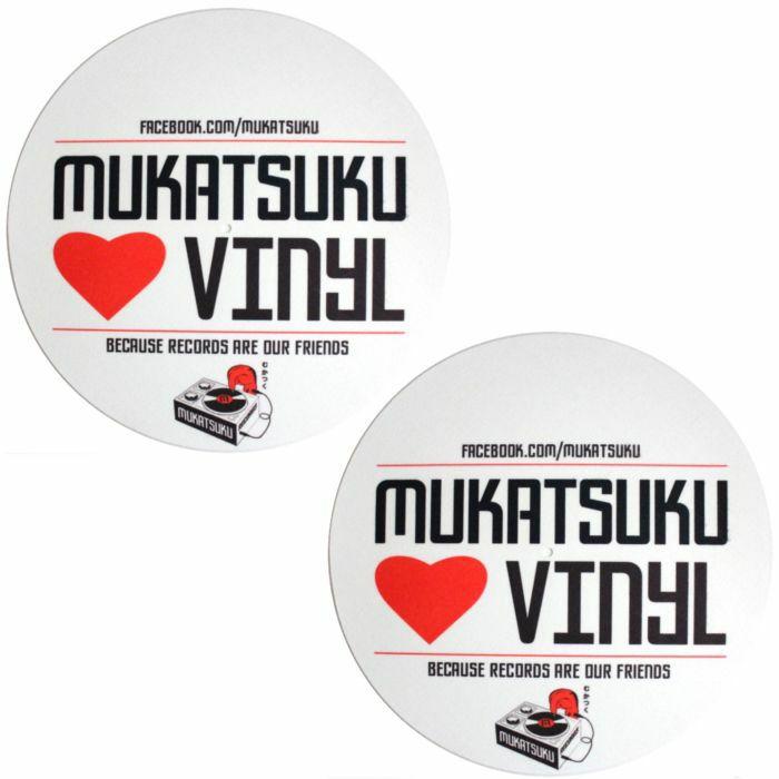 MUKATSUKU - Mukatsuku Loves Vinyl Design Slipmats (pair, red/white/black) *Juno Exclusive*