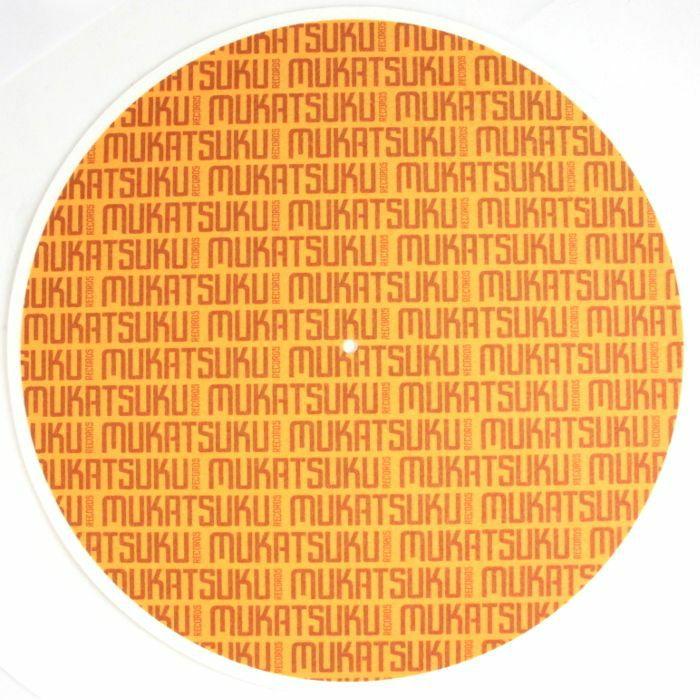 MUKATSUKU - Mukatsuku Titled Name 12'' Slipmat (single, brown/gold)  (Juno exclusive)