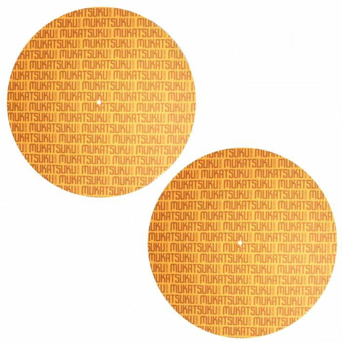 MUKATSUKU - Mukatsuku Font Name Slipmats (pair, brown/gold)  *Juno Exclusive*
