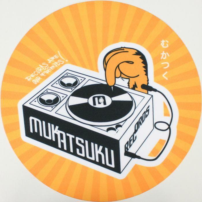 MUKATSUKU - Mukatsuku Records Are Our Friends Rays 12'' Slipmat (single, yellow/orange) (Juno Exclusive)