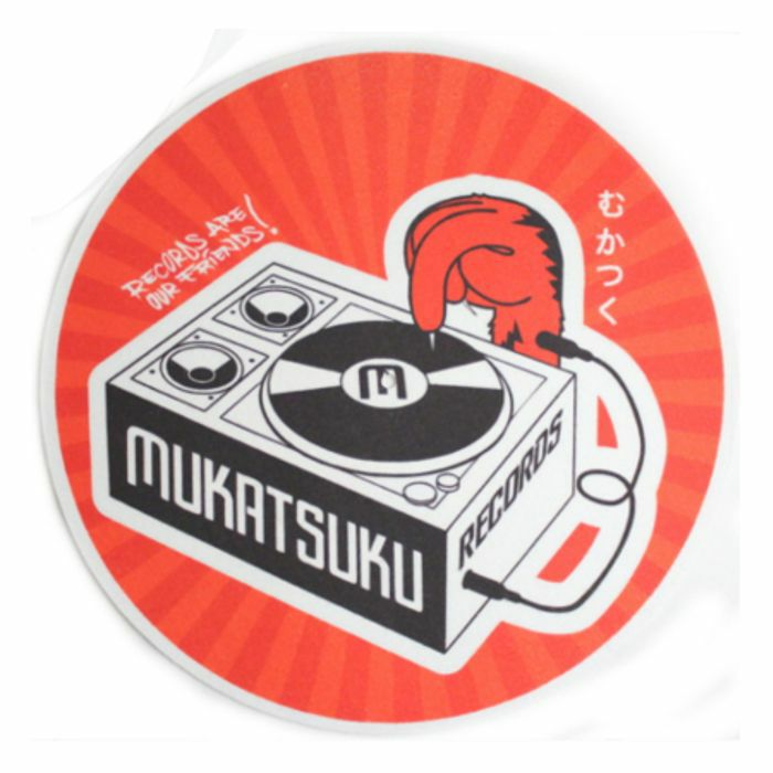 MUKATSUKU - Mukatsuku Records Are Our Friends Red Rays 12'' Slipmat (single, red rays) *Juno Exclusive*
