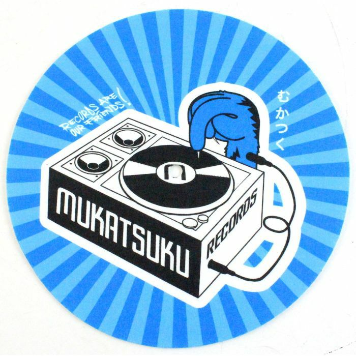 MUKATSUKU - Mukatsuku Records Are Our Friends Blue Rays 45 Slipmat (single, blue ray design) *JUNO EXCLUSIVE*