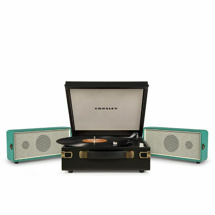 CROSLEY - Crosley Snap Portable Turntable With Fold Out Speakers (black/turquoise)