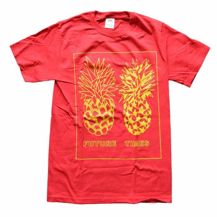 FUTURE TIMES - Future Times Pineapple T-Shirt (small, red/yellow)