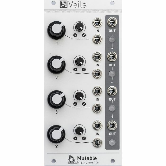 MUTABLE INSTRUMENTS - Mutable Instruments Veils Quad VCA & Mixer Module
