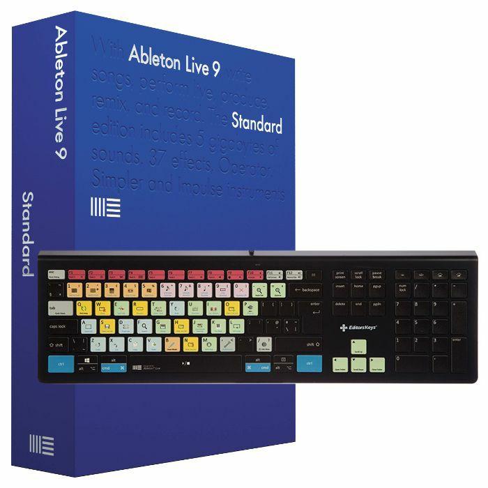 ABLETON/EDITORS KEYS - Ableton Live 9 Standard Edition + Editors Keys Backlit PC & Mac Keyboard V2 For Ableton Live (UK keyboard) *REDUCED PRICE BUNDLE*