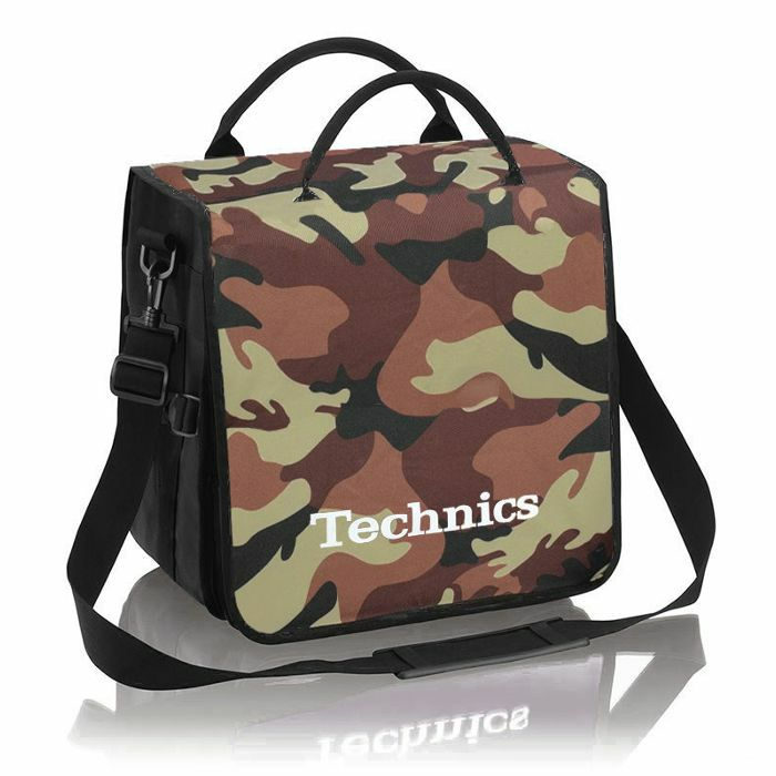 TECHNICS - Technics Backpack 12 Inch LP Vinyl Record Bag (brown camo with white logo)