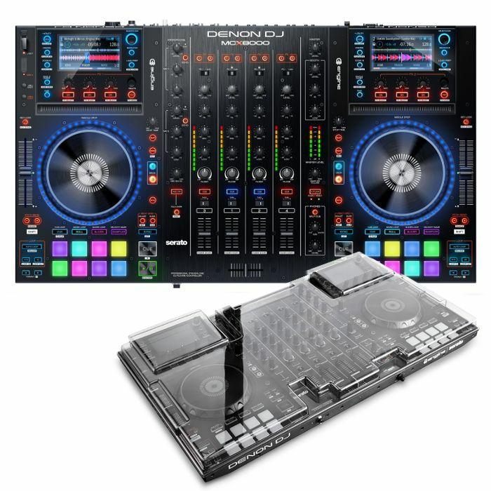 DENON/DECKSAVER - Denon MCX8000 DJ Controller With Serato DJ Software + Decksaver