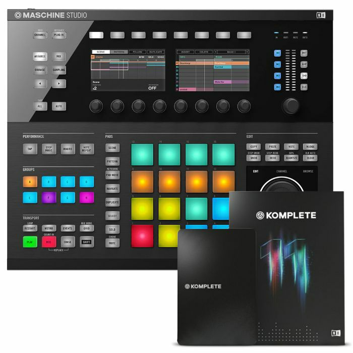 NATIVE INSTRUMENTS - Native Instruments Maschine Studio Groove Production System (black) + Komplete 11 Upgrade Software (upgrade from Komplete 11 Select)