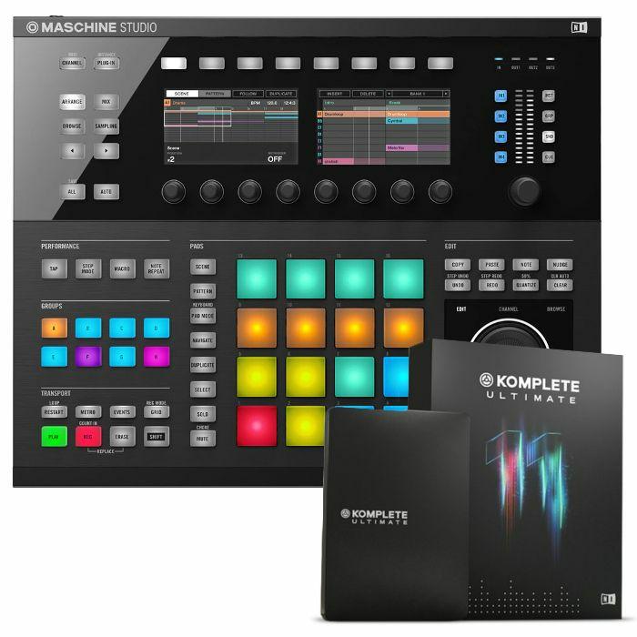 NATIVE INSTRUMENTS - Native Instruments Maschine Studio Groove Production System (black) + Komplete 11 Ultimate Upgrade Software (upgrade from Komplete 11 Select)