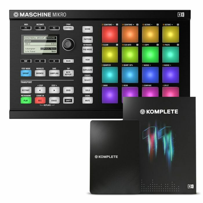 native instruments maschine mikro mkii groove production studio black with ebay. Black Bedroom Furniture Sets. Home Design Ideas