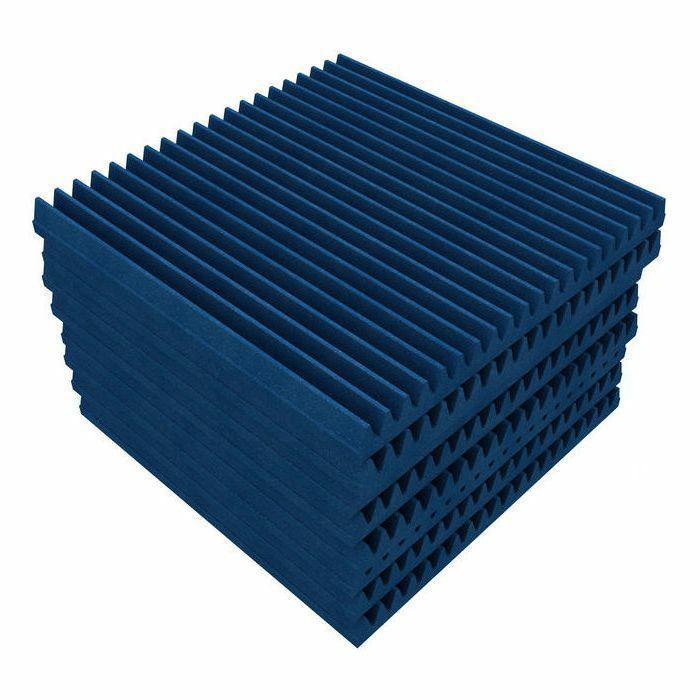 EQ ACOUSTICS - EQ Acoustics Classic Wedge 60 Acoustic Foam Soundproofing Tile (electric blue, pack of 8)