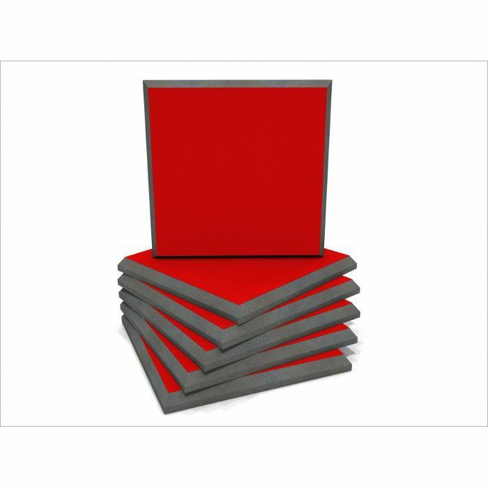 EQ ACOUSTICS - EQ Acoustics Colour Panel 60cm Fabric Faced Tile (red, pack of 6)