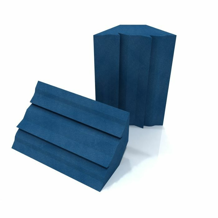 EQ ACOUSTICS - EQ Acoustics Project Corner Trap 30cm x 60cm Acoustic Foam Bass Trap (electric blue, pack of 2)