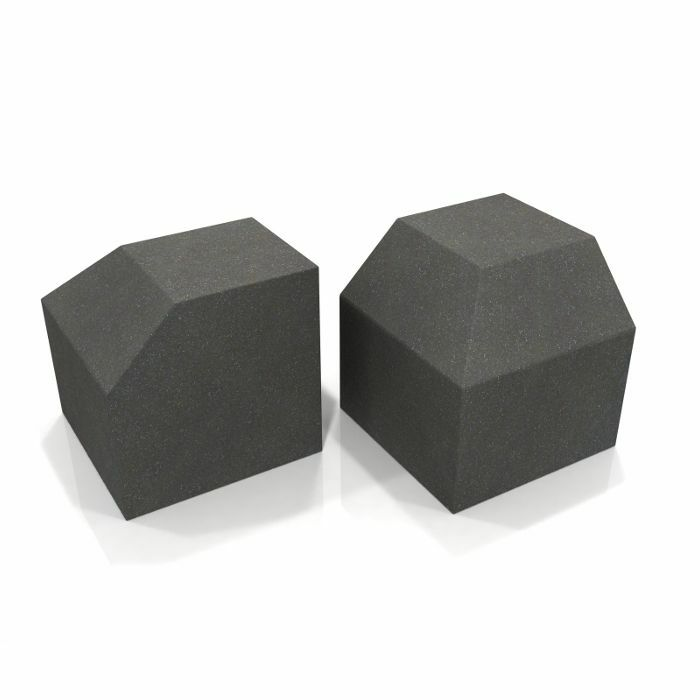 EQ ACOUSTICS - EQ Acoustics Project Corner Cube 30cm x 30cm Acoustic Foam Bass Trap (charcoal grey, pack of 2)