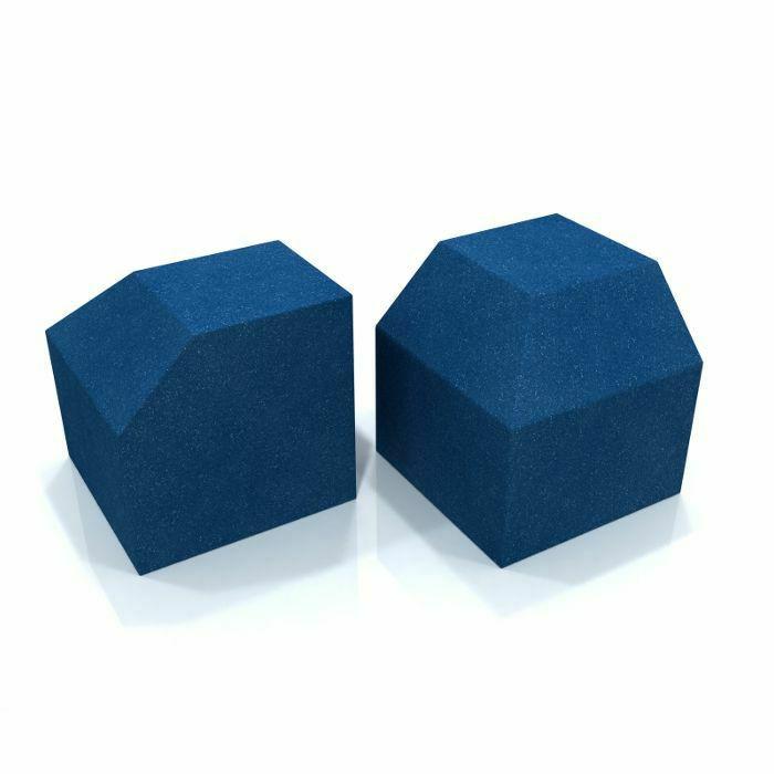 EQ ACOUSTICS - EQ Acoustics Project Corner Cube 30cm x 30cm Acoustic Foam Bass Trap (electric blue, pack of 2)
