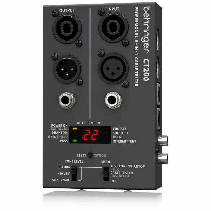 BEHRINGER - Behringer CT200 Microprocessor Controlled 8 In 1 Cable Tester