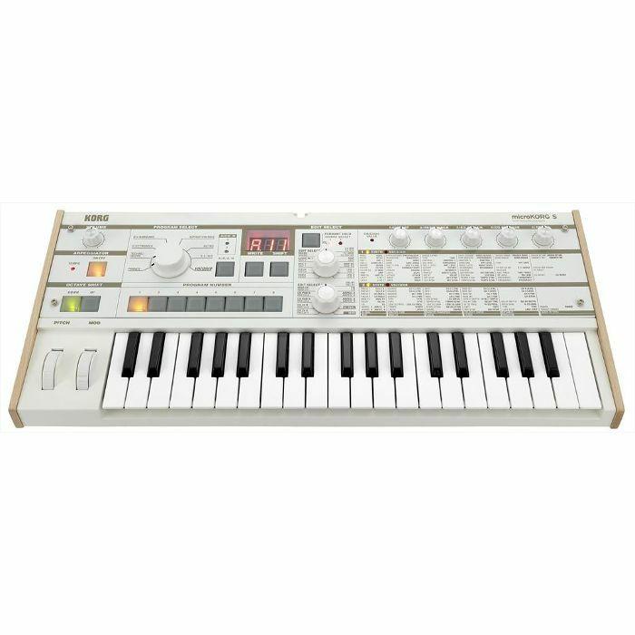 Korg MicroKorg S Synthesizer & Vocoder (white)