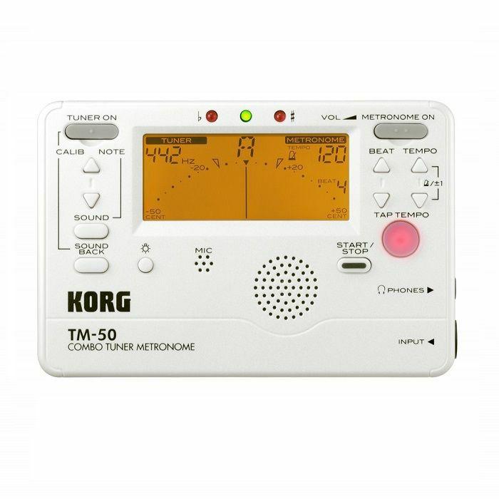 KORG - Korg TM50 Combo Tuner Metronome (pearl white)