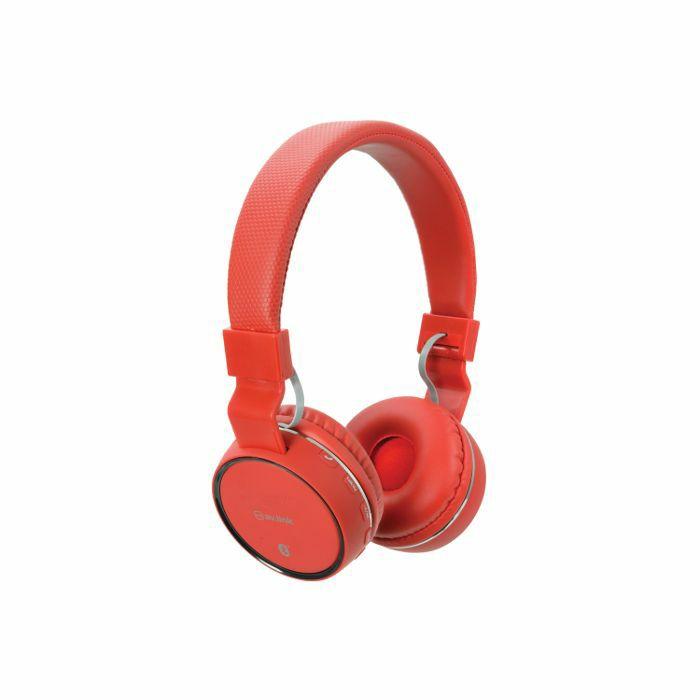 AV LINK - AV Link Rechargeable Wireless Bluetooth Noise Cancelling Headphones (red)