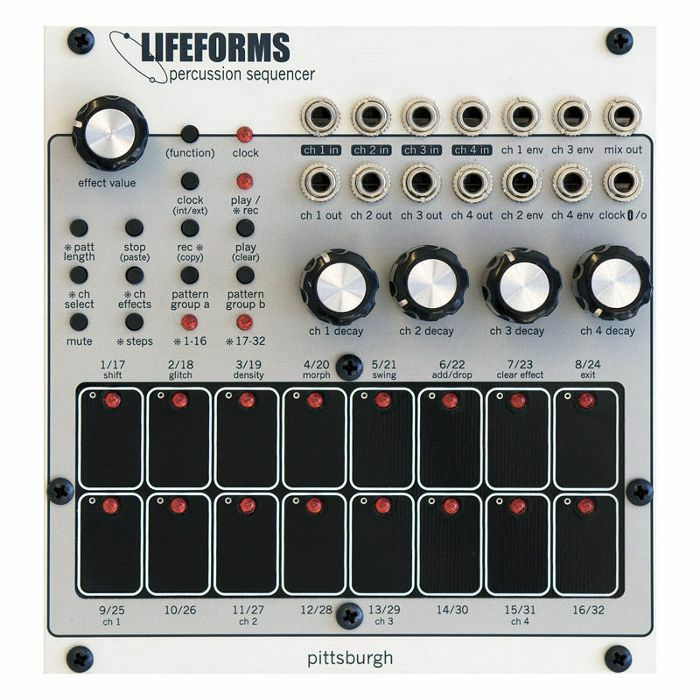 PITTSBURGH MODULAR - Pittsburgh Modular Lifeforms Percussion Sequencer Eurorack Drum Machine