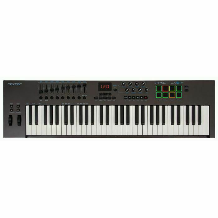 NEKTAR - Nektar Impact LX61+ USB MIDI Controller Keyboard With Bitwig 8 Track Software (B-STOCK)