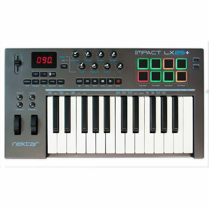 NEKTAR - Nektar Impact LX25+ USB MIDI Controller Keyboard With Bitwig 8 Track Software