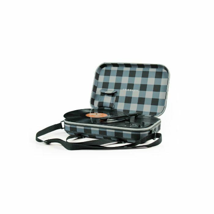 CROSLEY - Crosley CR8016A Messenger Portable Turntable (grey & black checker)