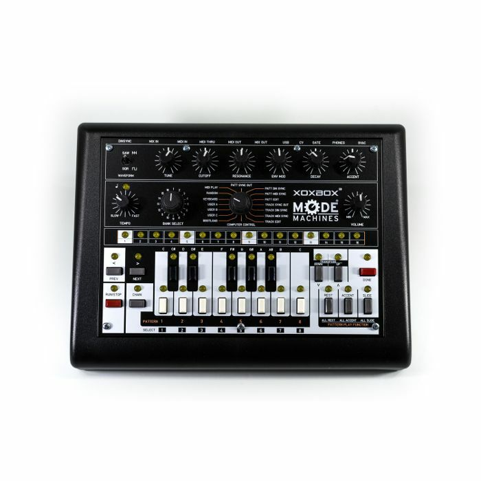 MODE MACHINES - Mode Machines xOxbOx Mk3 Final Edition TB303 Clone Synthesizer & Sequencer (black plate)