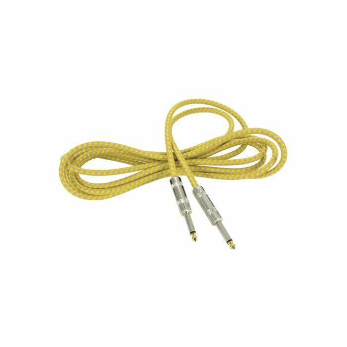 CHORD - Chord 6.3mm Jack Braided Guitar & Instrument Lead (grey & gold, 3.0m)