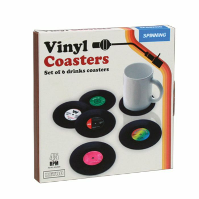 GIFT REPUBLIC - Gift Republic Retro Vinyl Coasters