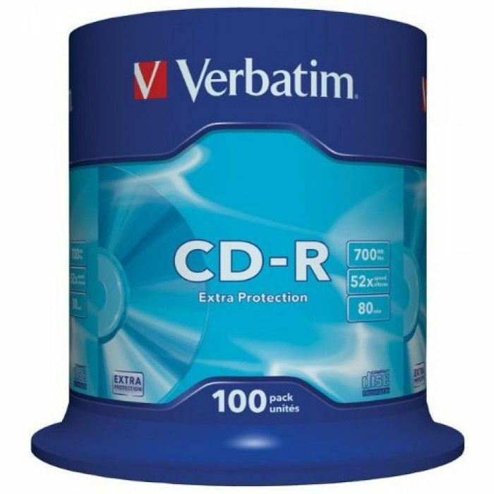 VERBATIM - Verbatim 80 Minute 700MB Non Print Blank CDR Discs (spindle of 100)