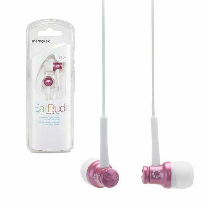 MEMOREX - Memorex EB50 Earphones (pink metallic)