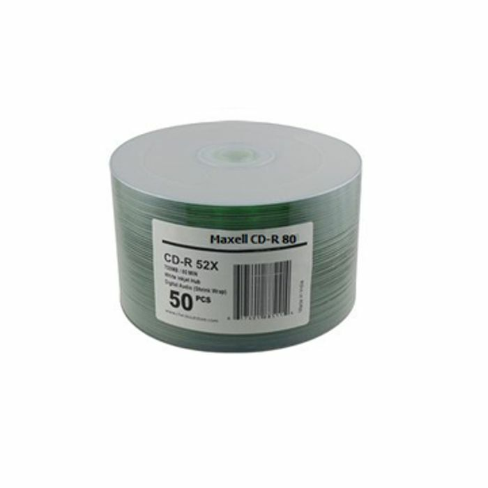 MAXELL - Maxell CDR80 700MB Printable Blank Discs (pack of 50)