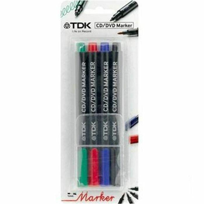 TDK - TDK CDR Coloured Marker Pens (pack of 4)