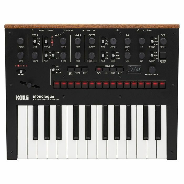 KORG - Korg Monologue Monophonic Analogue Synthesizer (black)
