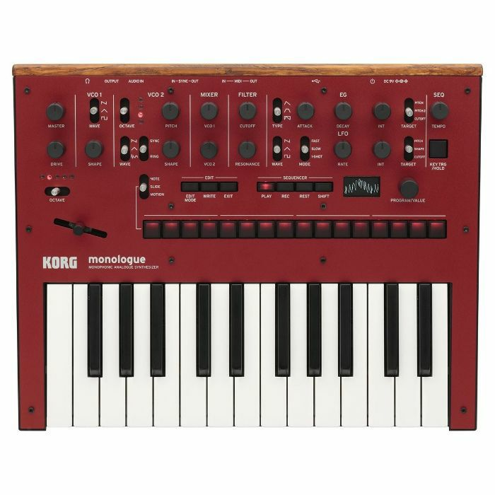 KORG - Korg Monologue Monophonic Analogue Synthesizer (red)
