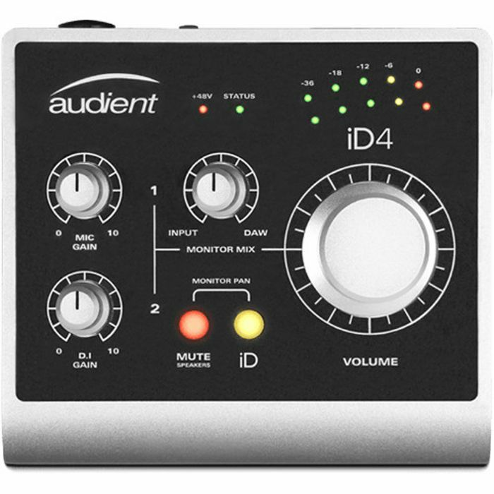 AUDIENT - Audient iD4 2 In 2 Out USB Audio Interface With Scroll Control ***INCLUDES OVER £500 WORTH OF FREE PLUG-INS & SOFTWARE***