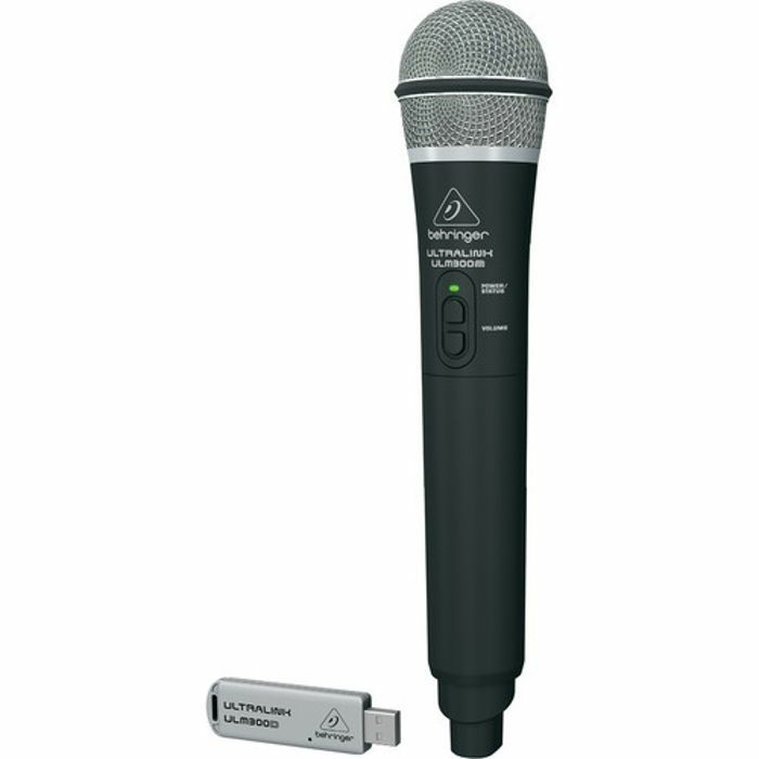 BEHRINGER - Behringer ULM300 USB High Performance 2.4 GHz Digital Wireless System With Handheld Microphone & Dual Mode USB Receiver