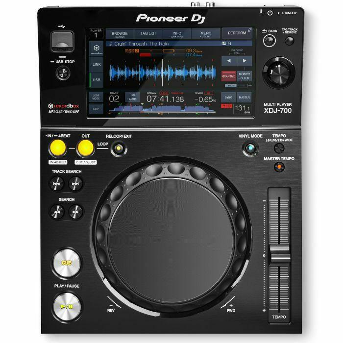 PIONEER - Pioneer XDJ700 Rekordbox Compatible Compact Digital Deck + Pioneer DJC700 Bag For XDJ700
