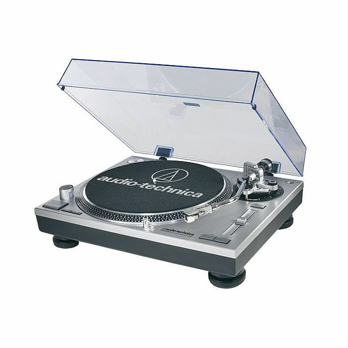 AUDIO TECHNICA - Audio Technica LP120 USB C Turntable With HS10 Headshell/AT95E Cartridge & Audacity Audio Production Software (silver) (B-STOCK)