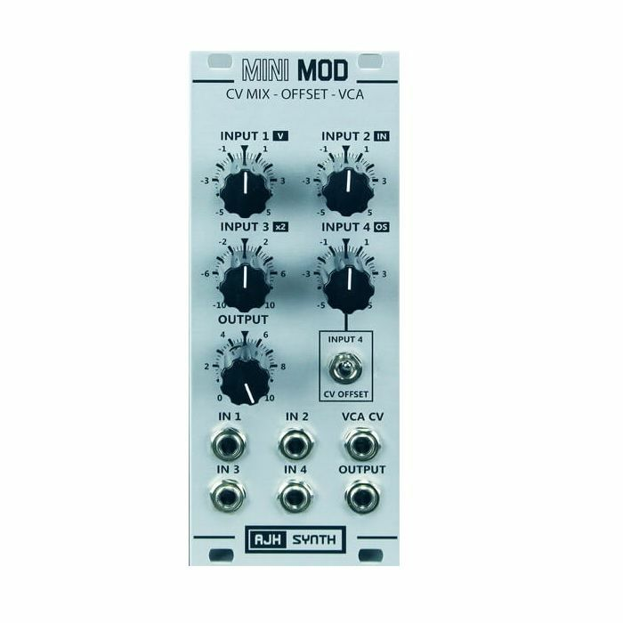 AJH SYNTH - AJH Synth Mini Mod CV Mix Offset VCA Module (silver)