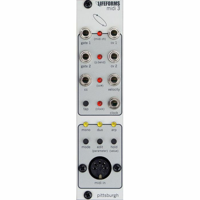 PITTSBURGH MODULAR - Pittsburgh Modular Lifeforms MIDI 3 MIDI To CV Converter Module