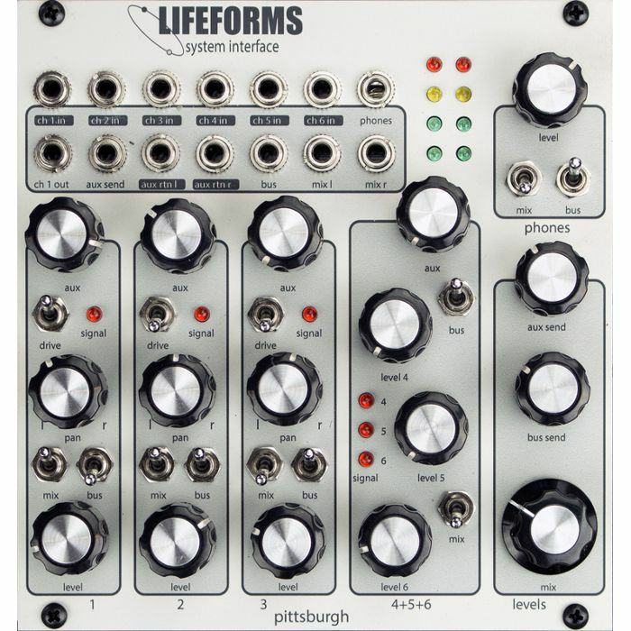 PITTSBURGH MODULAR - Pittsburgh Modular Lifeforms System Interface 6 Channel Performance Mixer Module