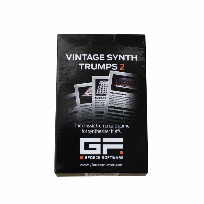 GFORCE SOFTWARE - Vintage Synth Trumps 2 Playing Cards