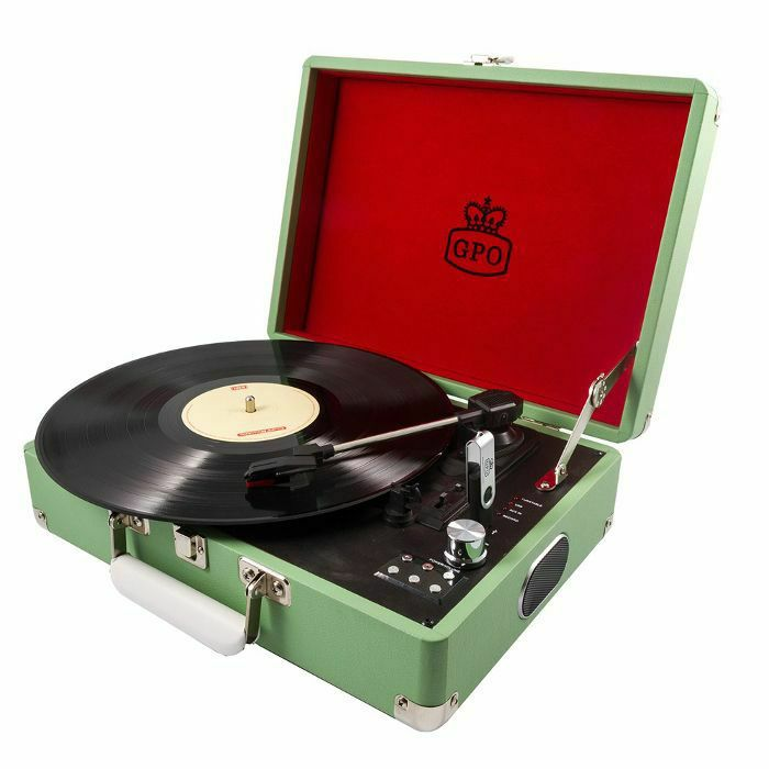 GPO - GPO Attache USB Turntable With USB Stick Included (apple green) (B-STOCK)