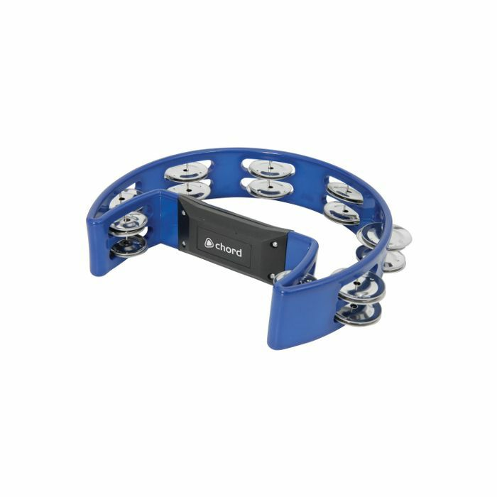 CHORD - Chord Single D Shaped Tambourine (blue)